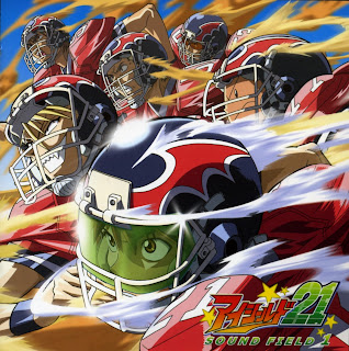Sena Kobayakawa and the Deimon Devil Bats team of Eyeshield 21 anime