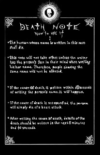 Death Note Rules