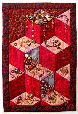 Thom Atkins, beaded quilt, bead journal project,December, Unconditional Love