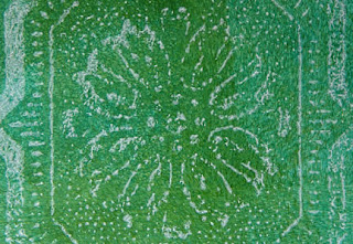 painted paper for Christmas cards by Robin Atkins