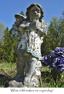Grave marker in Native American graveyard, photo by Robin Atkins