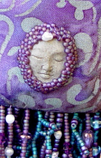 spirit doll by Robin Atkins, bead artist, detail