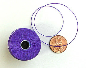 cord used for finger weaving, macrame and bead stringing