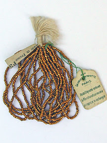 vintage seed beads from France, photo by Robin Atkins