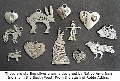 sterling silver charms, Robin Atkins collection