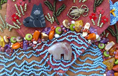 bead embroidery, Robin Atkins, Bead Journal Project, detail