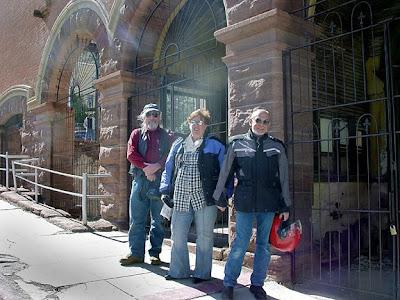 Robert, Corinne and Loring in Jerome, AZ
