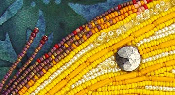 beaded butterfly by Robin Atkins, detail, bead embroidery, bead journal project