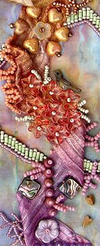 bead journal project, April, detail, Robin Atkins