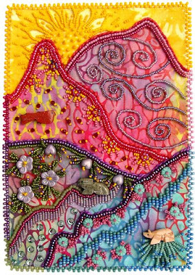 bead embroidery, Robin Atkins, Bead Journal Project