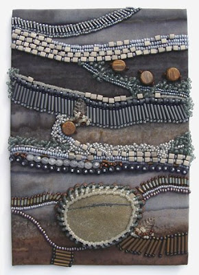 Bead Journal Project, Christi Carter, beach stone, fog