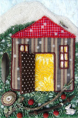 bead embroidery, bead journal project, Robin Atkins, December, Door Open