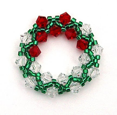 Beaded wreath by Rochelle Zawisza