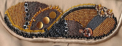 Beaded evening bag by Bobbi Pohl, detail of flap