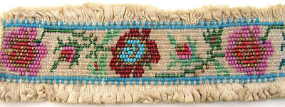 historical beadwork, bead embellished pleating or smocking