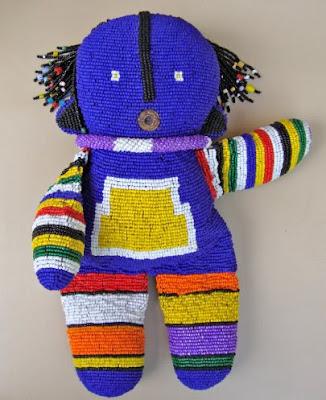 beaded doll