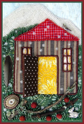 bead embroidery by Robin Atkins, Light Within, door open