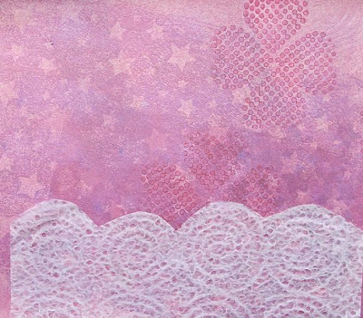 decorative paper painted with acrylics by Robin Atkins