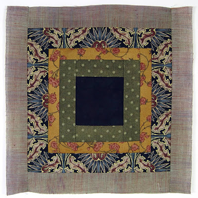 God's Eye quilt by Robin Atkins, auditioning fabrics 17