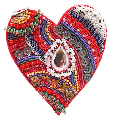 bead embroidery by Robin Atkins, Cry