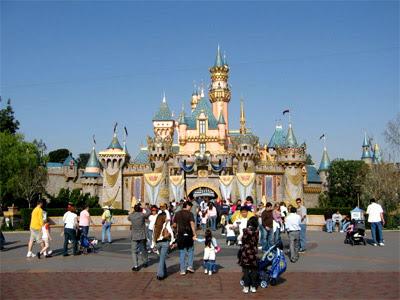 Foto do castelo da Disneylandia