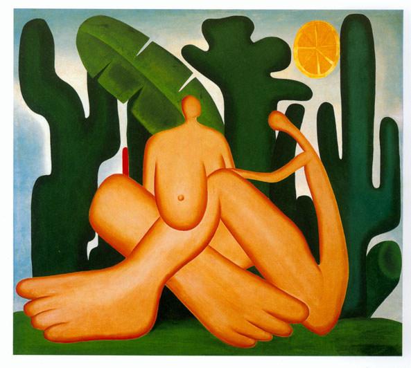 outra bonita pintura com um homem e uma mulher sentados