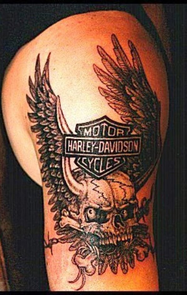 Harley-Davidson Biker Tattoos Designs