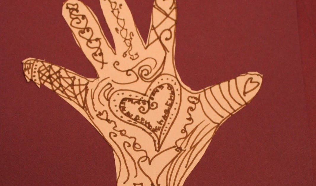 Mehndi Hands Art Lesson : Pink and green mama art history lesson mehndi hand