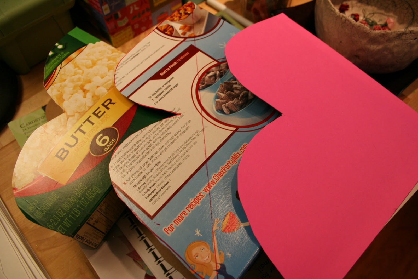 Pink and Green Mama ReCycled Cereal Box HeartShaped Valentine – Valentine Card Holders for Preschoolers