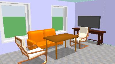 Gotowy projekt wnętrza - Sweet Home 3D