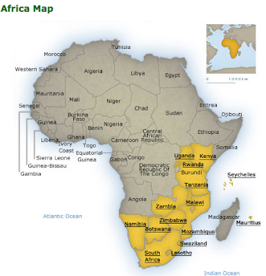 blank map of africa and asia. map of africa and asia