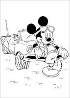 Planse imagini de colorat cu Mickey Mouse