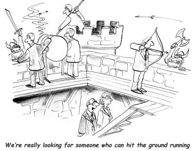 Hit the ground running cartoon