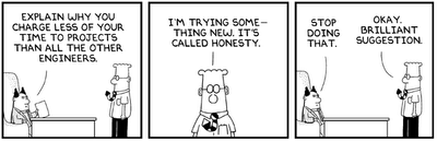 Dilbert, honesty