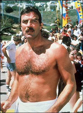 hairy chest tom selleck