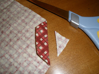 sewing cloth napkin corners step 2