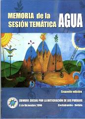 Memoria de la Sesión Temátcia del Agua