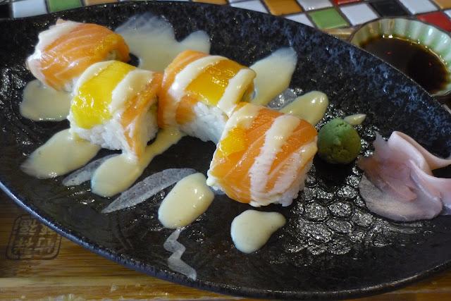 MOF, Japanese Mango and Avocado Salmon Roll