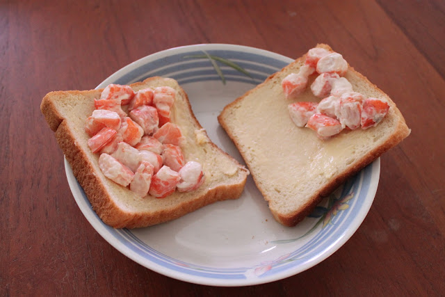 Crunchy Prawn Salad on Toast