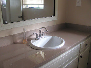 Valspar Countertop Paint : See the beautiful shine! Oh, and Yurii installed the cheapo faucet I ...