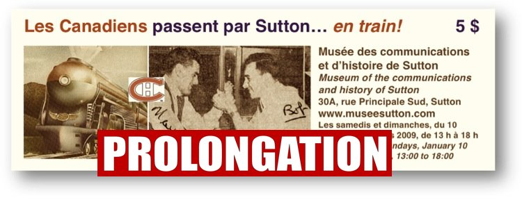Les Canadiens passent par Sutton... en train!