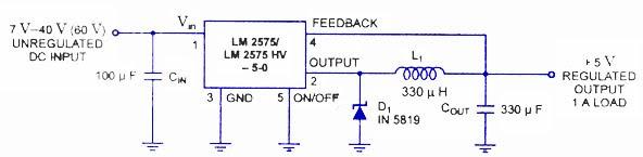 LM2575 Regulator Switching Circuit