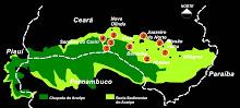 localização dos Geotopes