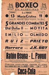 Linenses boxeando en Algeciras