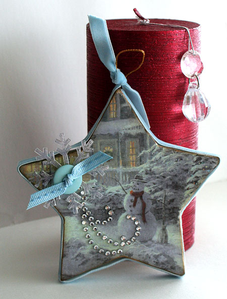 Finding beauty home hand crafted christmas decorations for Papier mache decorations