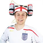 England Thirst Aid Beer Helmet