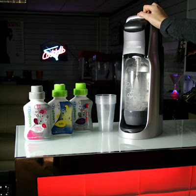 The SodaStream Stream Drinks Maker in use