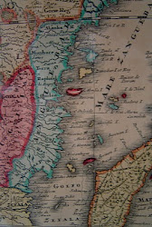 Old map of East African Coast 1735