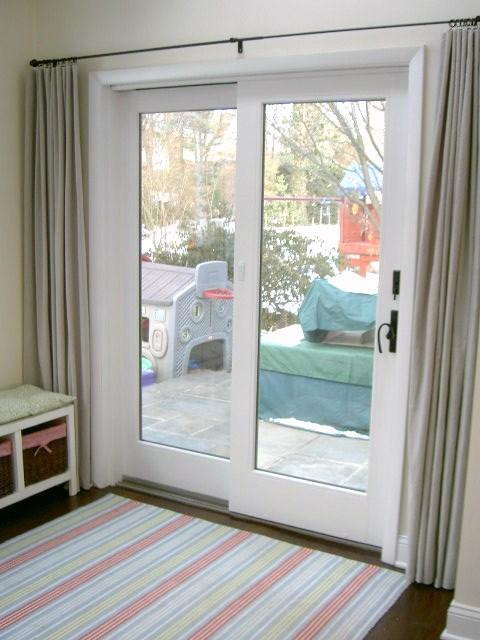 That 39 s my letter sliding glass door makeover - Bedroom with sliding glass doors ...