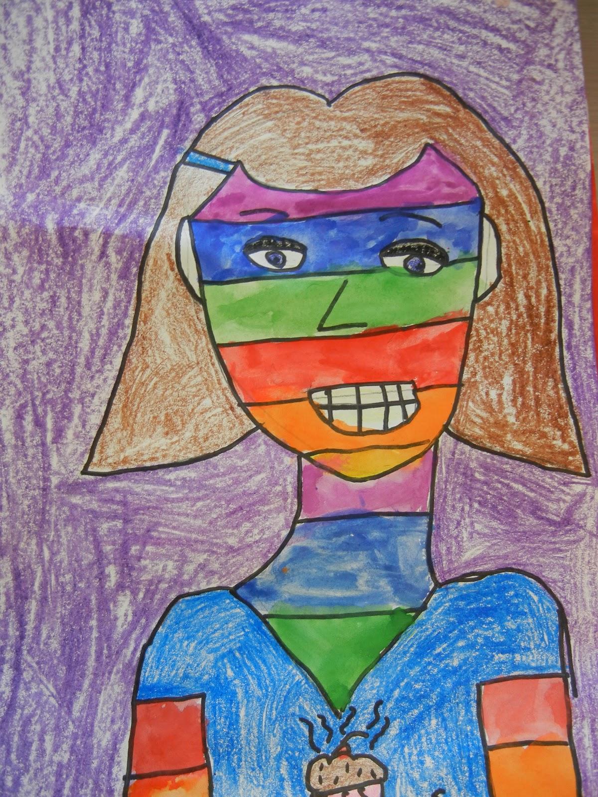 the modern art smock 2nd grade bad case of the stripes